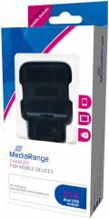 Mediarange USB Ladegerät Charger Universal 2x USB Steckplatz schwarz Restposten