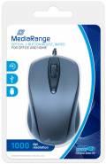 Mediarange Maus optisch mit Kabel 3 Tasten 1000 dpi schwarz MROS201