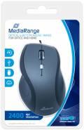 Mediarange Maus optisch mit Kabel 5 Tasten 2400 dpi schwarz MROS202