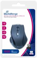 Mediarange Maus optisch kabellos 5 Button optical wireless 1600 dpi schwarz, grau