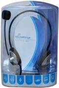 Mediarange Headset PC Multimedia Neck Nacken 2x 3,5mm Klinkestecker schwarz, grau