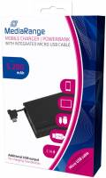 Mediarange Powerbank mobile Ladestation 5200 mAh Ladegerät USB OUT schwarz