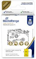 Mediarange kompatibles Schriftband zu Brother TZ-621 / TZe-621 9mm 8m schwarz auf gelb