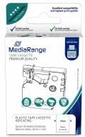 Mediarange kompatibles Schriftband zu Dymo D1 / 45013 / S0720530 12mm 7m schwarz auf weiß