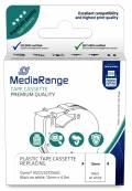 Mediarange kompatibles Schriftband zu Dymo 91221 / S0721660 12mm 4m schwarz auf weiß