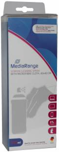 Mediarange Bildschirmreiniger Set TFT / LCD / PLASMA Mikrofasertuch & Spray 250 ml
