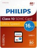 Philips SDHC Karte 16GB Speicherkarte UHS-I U1 Class 10
