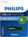 Philips USB Stick 8GB Speicherstick Urban Edition grün transparent