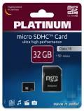 Platinum Micro SDHC Karte 32GB Speicherkarte UHS-I Class 10