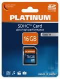 Platinum SDHC Karte 16GB Speicherkarte UHS-I Class 10