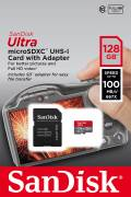 Sandisk Micro SDXC Karte 128GB Speicherkarte Ultra UHS-I U1 100 MB/s A1 Class 10