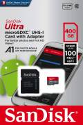 Sandisk Micro SDXC Karte 400GB Speicherkarte Ultra Android UHS-I U1 100 MB/s A1 Class 10