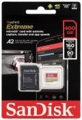 Sandisk Micro SDXC Karte 400GB Speicherkarte Extreme UHS-I U3 4K 160 MB/s V30 A2 Class 10