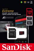 Sandisk Micro SDXC Karte 128GB Speicherkarte Extreme UHS-I U3 4K 100 MB/s V30 A1 Class 10
