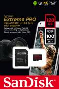 Sandisk Micro SDXC Karte 128GB Speicherkarte Extreme Pro UHS-I U3 4K 100 MB/s V30 A1 Class 10