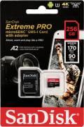 Sandisk Micro SDXC Karte 256GB Speicherkarte Extreme Pro UHS-I U3 4K 170 MB/s V30 A2 Class 10