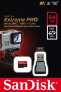 Sandisk Micro SDXC Karte 64GB Speicherkarte Extreme Pro UHS-II U3 4K 275 MB/s Class 10