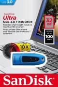 Sandisk USB Stick 32GB Speicherstick Cruzer Ultra blau USB 3.0