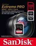 Sandisk SDXC Karte 128GB Speicherkarte Extreme Pro UHS-I U3 4K 170 MB/s V30 Class 10
