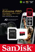 Sandisk Micro SDXC Karte 400GB Speicherkarte Extreme Pro UHS-I U3 4K 170 MB/s V30 A2 Class 10