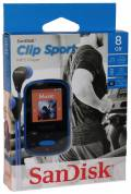 Sandisk MP3 Player Clip Sport 8GB 1,44 Zoll Display Radio Hörbücher AAC blau
