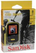Sandisk MP3 Player Clip Sport 8GB 1,44 Zoll Display Radio Hörbücher AAC gelb