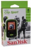 Sandisk MP3 Player Clip Sport 8GB 1,44 Zoll Display Radio Hörbücher AAC grün
