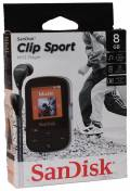 Sandisk MP3 Player Clip Sport 8GB 1,44 Zoll Display Radio Hörbücher AAC schwarz