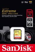 Sandisk SDXC Karte 128GB Speicherkarte Extreme UHS-I U3 4K 90 MB/s V30 Class 10
