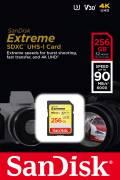 Sandisk SDXC Karte 256GB Speicherkarte Extreme UHS-I U3 4K 90 MB/s V30 Class 10