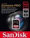 Sandisk SDXC Karte 64GB Speicherkarte Extreme Pro UHS-II U3 4K 300 MB/s Class 10