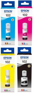 4 Epson Tintenbehälter Tinte 102 BK / C / M / Y Multipack