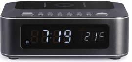Thomson Bluetooth Radiowecker CR400iBT schwarz Ladegerät Induktion FM Radio TH364781 - Bild vergrößern