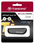 Transcend USB Stick 32GB Speicherstick JetFlash 100 Encrypted schwarz USB 3.1