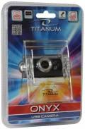 Titanum USB Webcam Onyx USB Camera 50 Mpix Clip Standfuß schwarz TC101