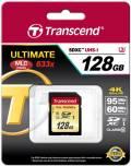 Transcend SDXC Karte 128GB Speicherkarte Ultimate 633x UHS-I U3 4K Class 10