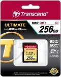 Transcend SDXC Karte 256GB Speicherkarte Ultimate 633x UHS-I U3 4K Class 10
