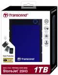 Transcend HDD externe Festplatte StoreJet 25H3 2,5 Zoll 1TB USB 3.1 navy blue