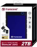 Transcend HDD externe Festplatte StoreJet 25H3 2,5 Zoll 2TB USB 3.1 navy blue