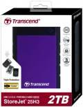 Transcend HDD externe Festplatte StoreJet 25H3 2,5 Zoll 2TB USB 3.1 purple