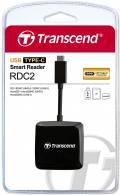 Transcend Card Reader RDC2 Micro Card SD / SDHC / SDXC UHS-I schwarz Typ C USB