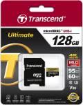 Transcend Micro SDXC Karte 128GB Speicherkarte Ultimate UHS-I U3 4K V30 Class 10