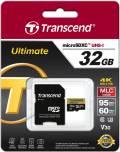 Transcend Micro SDHC Karte 32GB Speicherkarte Ultimate UHS-I U3 4K V30 Class 10
