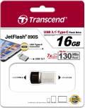 Transcend USB Stick 16GB Speicherstick JetFlash 890S Typ C USB 3.1 mit USB 3.1