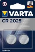2 Varta 6025 Professional CR 2025 Lithium Knopfzelle Batterien im 2er Blister