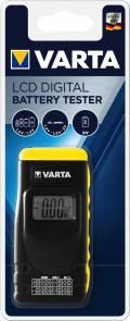 Varta Batterietester LCD Digital Tester für AA AAA C D 9V Knopfzelle 891