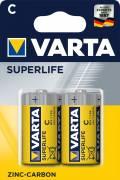 2 Varta 2014 Superlife C / Baby Zink-Kohle Batterien im 2er Blister