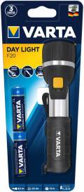 Varta Taschenlampe LED Day Light F20 inkl. 2x AA Batterien 16610