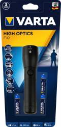 Varta Taschenlampe LED High Optics F10 inkl. 3x AAA Batterien 18810
