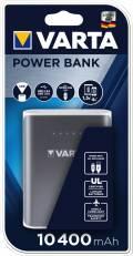Varta Powerbank mobile Ladestation 10400 mAh Ladegerät 2x USB OUT silber